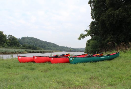 Canoeing on the river Tamar